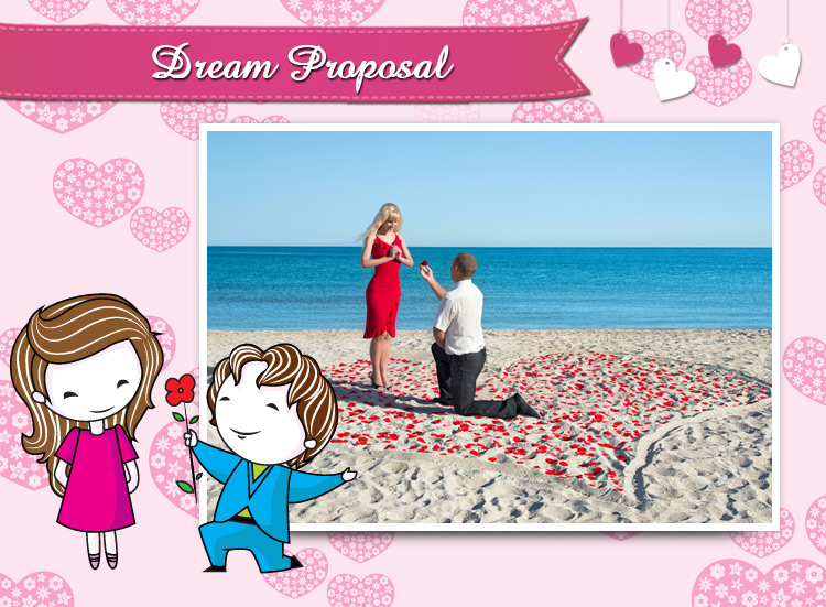 Arrange a wonderful unique date this time, A dream proposal can make her thine.