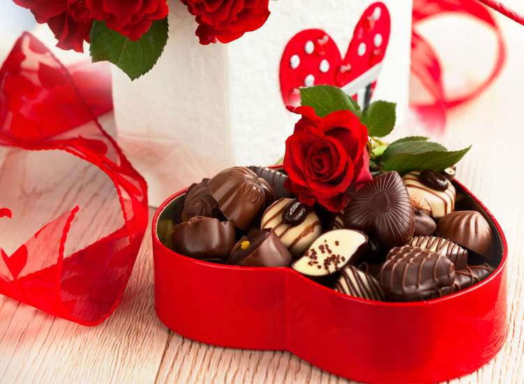 Box of chocolates that are divine, tells of our love entwined.