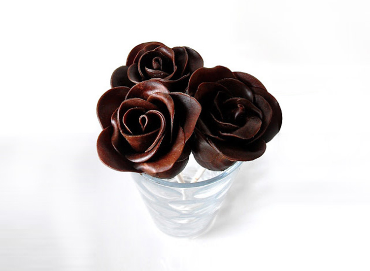 Chocolate rose, I give to you, a symbol of my eternal love for you.