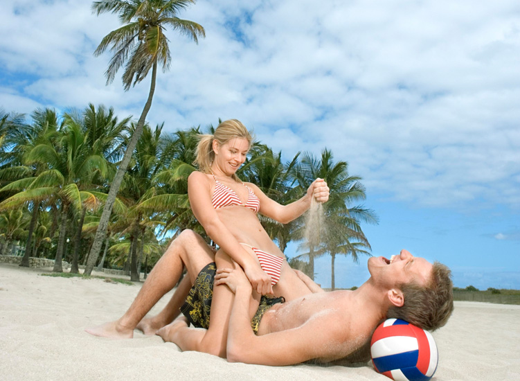 Let's laugh and have some fun, at our beach holiday in the sun.