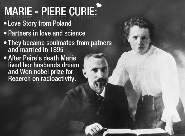 Science gave birth to love, Marie & Peire Curie a ' Scientific Lovestory'