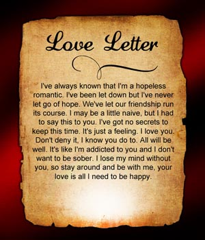 Second Chances Love Letter