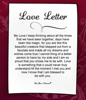 Long sweet letters to your girlfriend