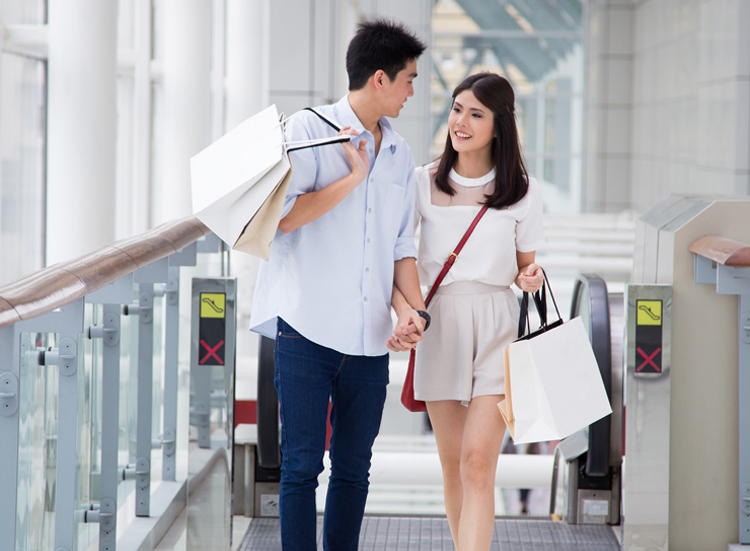 Hand in hand and walk in walk, I would love to take you to shop.