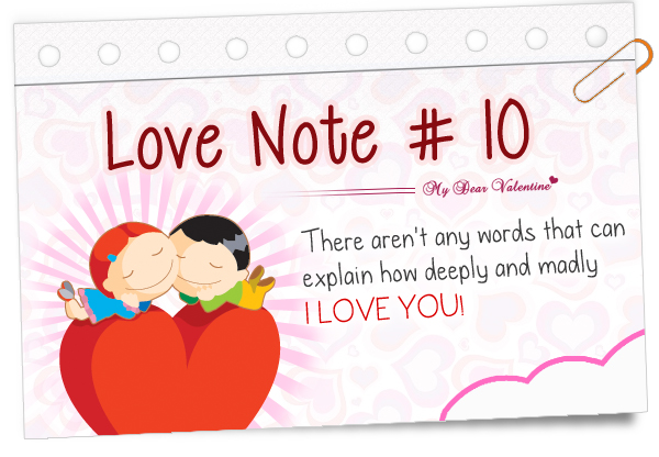 Love notes for Valentine notes for her