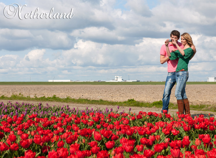 Netherlands - We'll always cherish these hours, where our love blossomed among the flowers.
