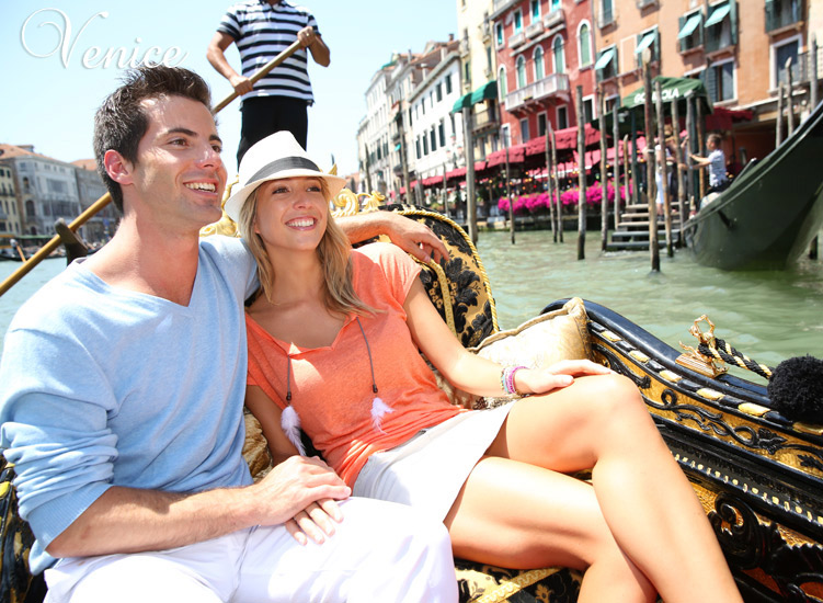 Venice - In a gondola in Venice I want to glide, down a romantic canal with you by my side.