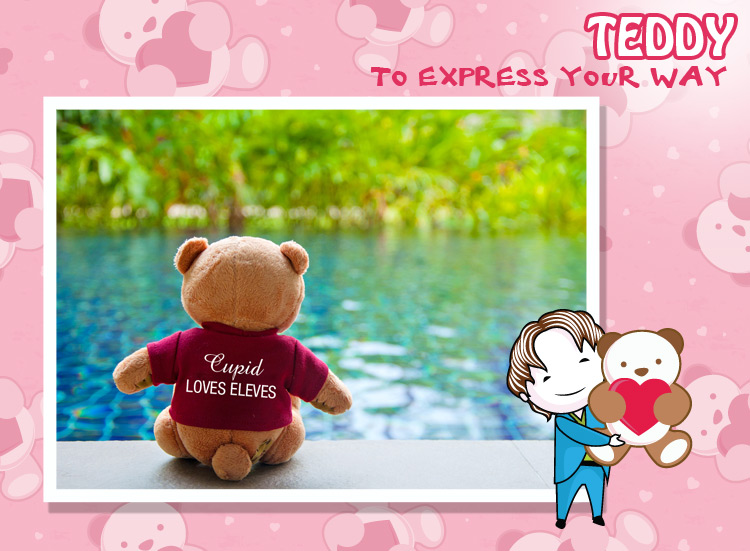 To speak my heart I chose a teddy, It carries the softness already.