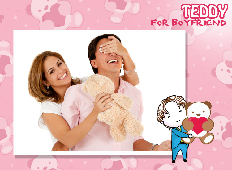 A surprise on teddy day for my funny man, succeeds my lovable plan.
