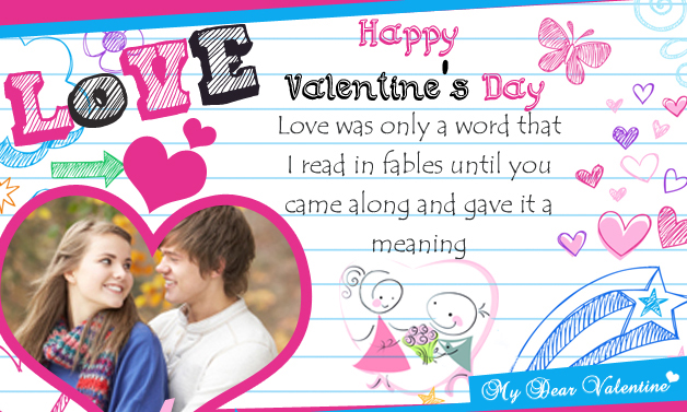 Love Was Only a Word - Cute Valentine Cards