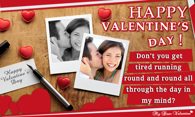 Don't You Get Tired Running - Valentine Cards
