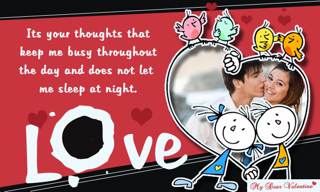 Its Your Thoughts that keep me busy - Valentine Cards