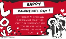 Life throws at you many surprises - Valentine Cards