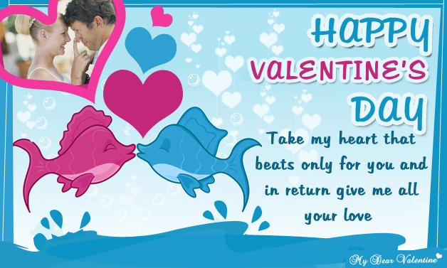 Take my heart that beats only for you - Valentine Cards