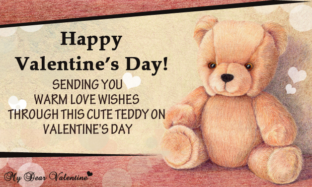 Sending You Warm Love Wishes - Teddy Cards