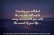 Cute love quotes - Someday you will find