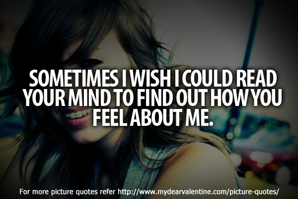 Cute love quotes - Sometimes I wish