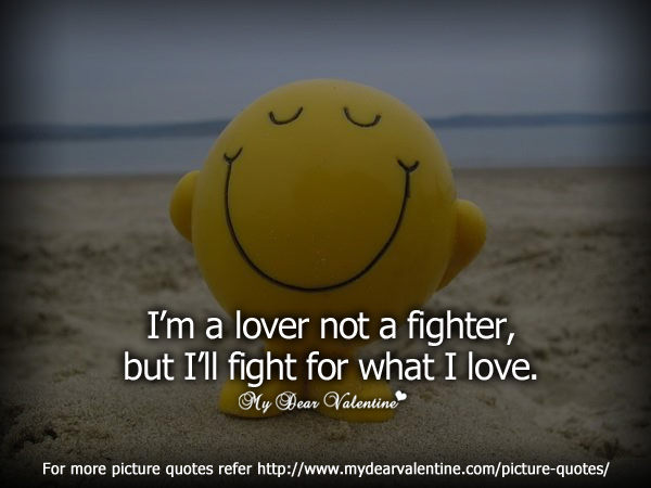 Cute love quotes - I am a lover