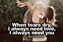 I love you quotes - When tears dry