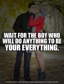 Wait for the boy who will do