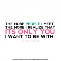 The more people I meet