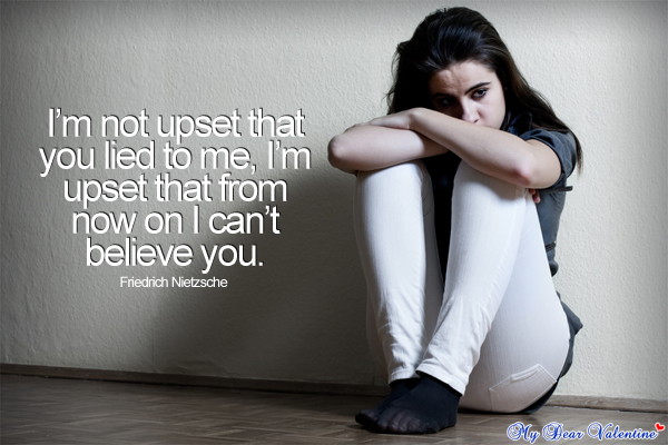 Love hurts quotes - I'm not upset that you