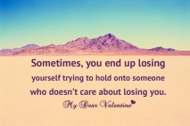 Love hurts quotes - Sometimes you end up