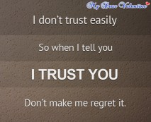 Love hurts quotes - I don't trust easily, so