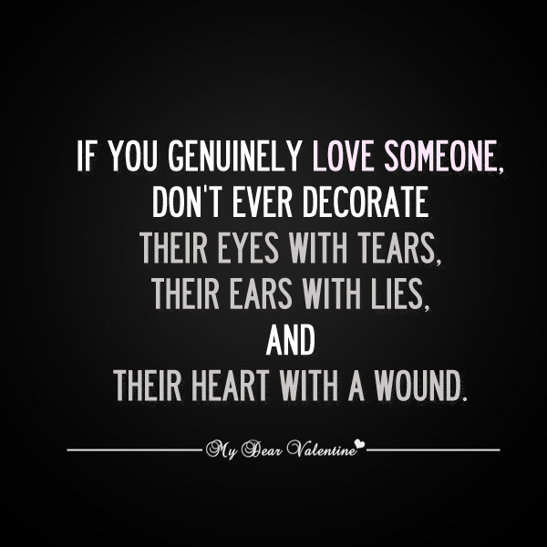 Quotes About Love Someone : Love quotes - If you genuinely love someone