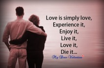 Love quotes - Love is simply love