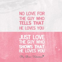 Love quotes - No love for the guy who