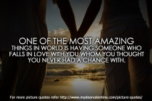 Love quotes - One of the most amazing