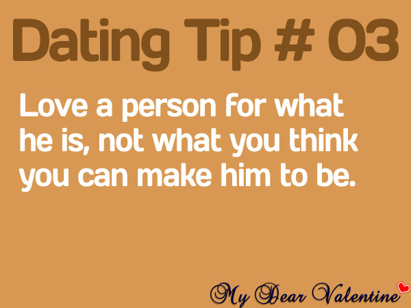 Love quotes for him - Love a person for what