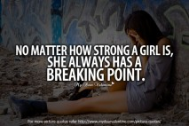 No matter how strong a girl is