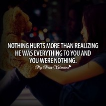 Sad love quotes - Nothing hurts more than