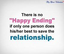 Sad love quotes - There is no happy ending