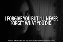 Sad love quotes - I forgive you but