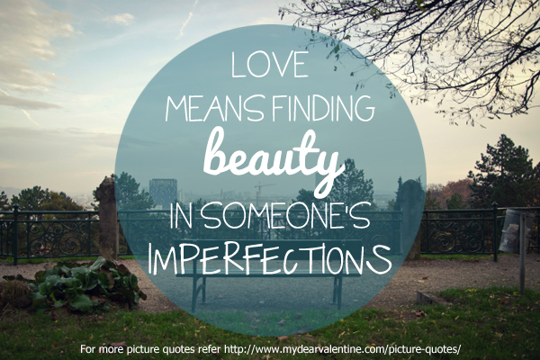 Love means finding beauty