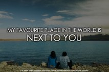 Sweet love quotes - My favourite place