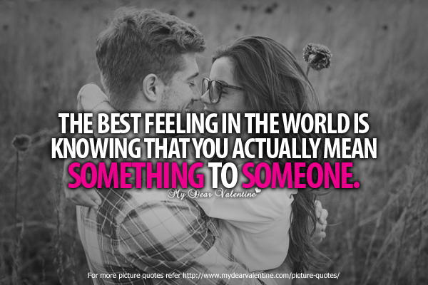 Adorable Quotes - The best feeling in the world