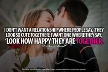 Adorable Quotes - I do not want relationship where