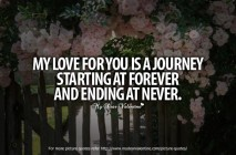 Awesome Love Quotes - My love for you is a journey