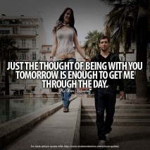 Being in Love Quotes - Just the thought of being with you