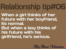 boyfriend quotes - When a girl thinks of