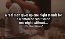 boyfriend quotes - A real man gives up