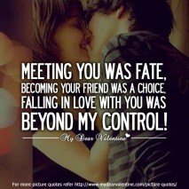 crush quotes - Meeting you was fate