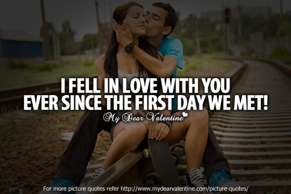 crush quotes - I fell in love with you