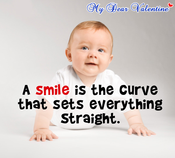crush quotes - A smile is a curve