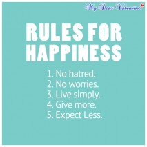 cute life quotes - Rules for happiness