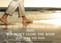 funny life quotes - Move On Just turn the page